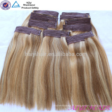 2015 Stock Factory gros Virgin Remy poisson fil Extension de cheveux