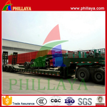 Diesel Type Modular Excavator Heavy Machine Transport Lowbed Semi Trailer Heavy Duty Truck