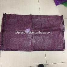 A proteção ambiental PP leno o saco da malha para a embalagem vegetal da lenha dos frutos