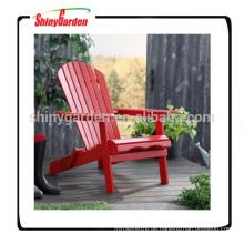 Beweglicher faltbarer roter Adirondack Stuhl