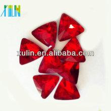 perles de cristal de cristal de triangle de foiling d'argent pour des bijoux
