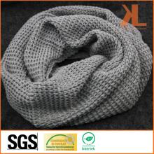 Acrylic Fashion Warm Gray Grid Knitted Neck Scarf