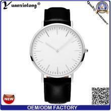 Yxl-567 Fashion Watch Round Steel Case Men Women Leather Quartz Analog Wrist Watch