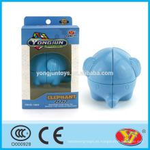 2015 Caliente ying Yun Yun Yong Jun Elefante Rompecabezas Rompecabezas Cubo juguetes educativos Inglés de embalaje para la promoción