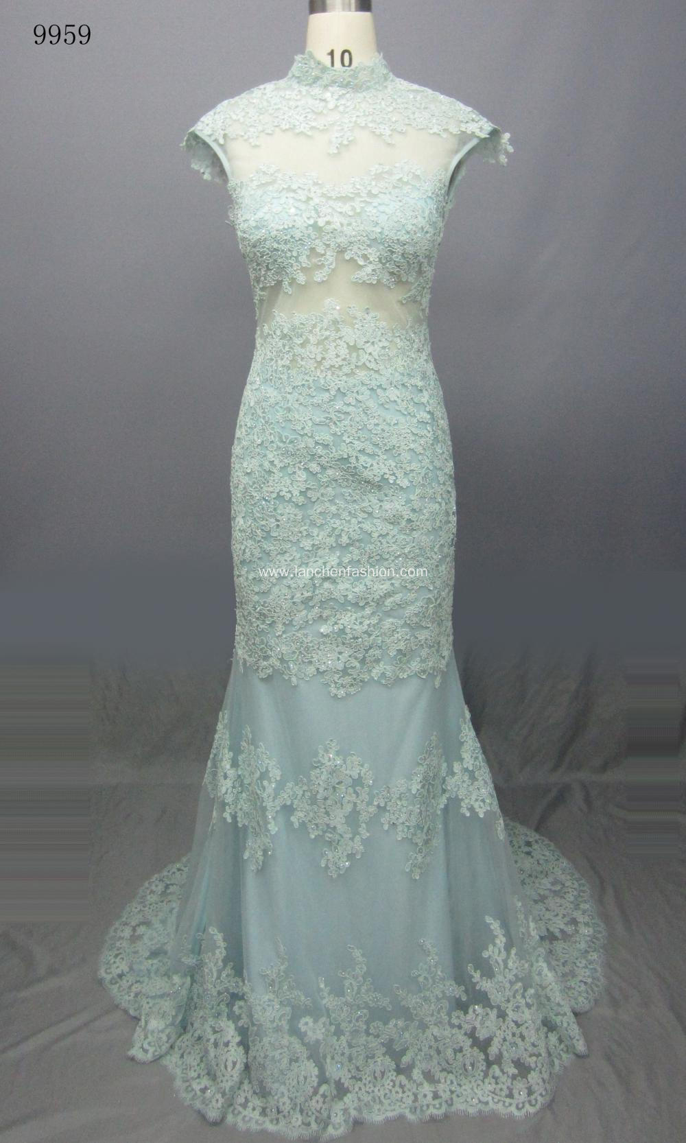 Beaded Lace Prom Evening Dresses