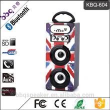 BBQ KBQ-604 Karaoke system 1200mAh Best Bluetooth Speaker Outdoor wireless Audio Wooden Box With FM Radio USB