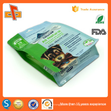 Eco side gusset stand up ziplock dry dog food packaging bag 1kg 2kg 3kg