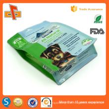 Eco lado gusset stand up ziplock cão seco saco de embalagem de alimentos 1kg 2kg 3kg