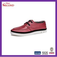 Três cores couro homens sapatos