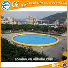 PVC 0.9mm piscina flotante bomba de agua, piscina de agua inflable