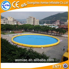 PVC 0.9mm floating swimming pool water pump, inflatable water pool