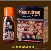 Kamsutram óleo altamente eficaz de massagem ayurvédica para homens 15ml