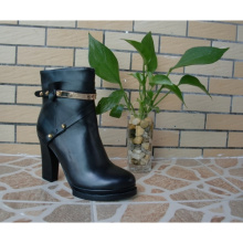 Botas de tornozelo de mulheres negras (Hcy02-751)