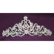 Fashion High Quality Alloy Custom Shiny Crystal Bridal Crown Wedding Tiara