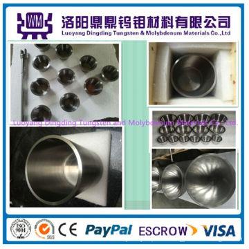 Bester Preis Hohe Qualität Maßgeschneiderte Gesinterte Polierte Reine Molybdän Tiegel / Tiegel oder Tungsten Tiegel / Tiegel für Metallisierung