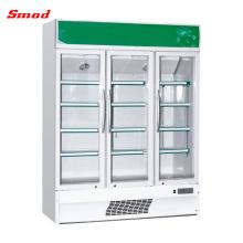 Refrigerador comercial compacto de la puerta de cristal de la bebida sin alcohol del alto compacto nacional 110v alto