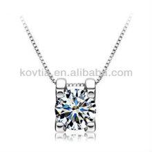 925 corazones de plata de la joyería y collar de diamante cúbico del zircon de las flechas