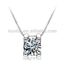 925 silver jewelry hearts and arrows cubic zircon diamond necklace