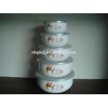 5 sets cartoon decals enamel ice bowl