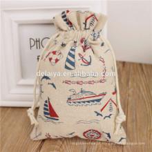Sacos de cordão de algodão por atacado embalagem sacos para promoção