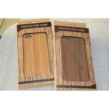 La cubierta de madera móvil natural genuina hecha a mano con protege la caja plástica
