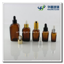 5ml-100ml Amber Square Glass Essential Oil Dropper Bottles