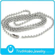 TKB-JN0086 Promocional de Alta Qualidade grânulos de prata rosário puro Aço Inoxidável 316L colar DongGuan Truthkobo Jóias