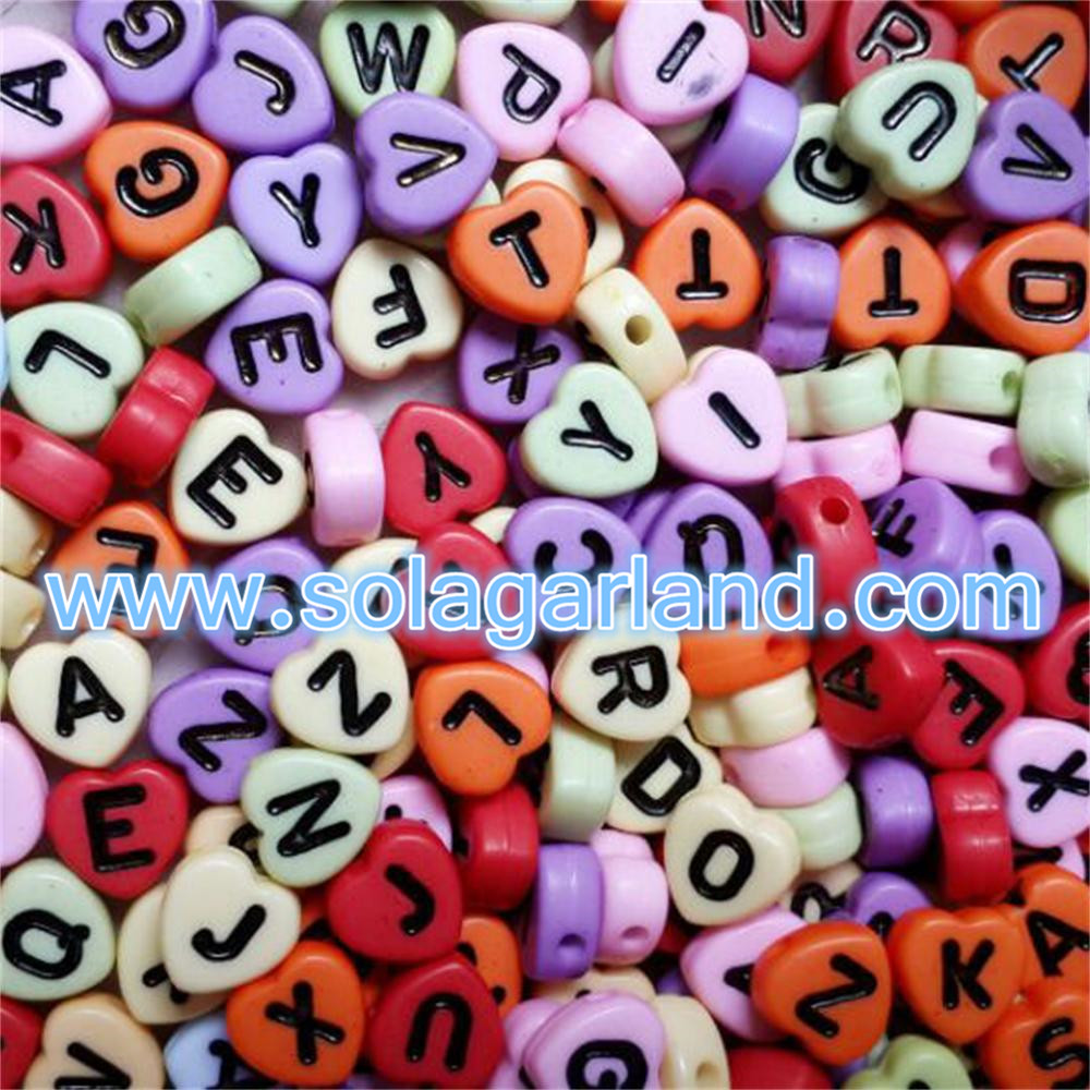 7MM Letter/ Alphabet Acrylic Beads