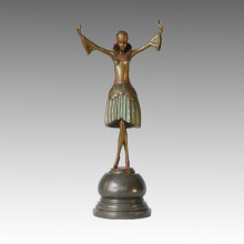 Danseuse Bronze Sculpture Dancing Girl Sculpture Statue en laiton TPE-311b