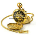 Watch Factory Custom Logo Brass Pocket Watch with Japan Movt