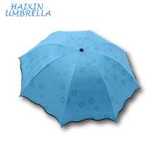 Fashion Gift Inner UV Protective Black Glue Tiny 3 Folding Promotional Umbrella Print Ads