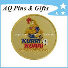 Emblema de metal dourado com esmalte macio (badge-059)