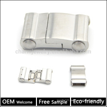 BX055 Wholesale china jewelry finding buckles clasp 316L stainless steel magnetic flat clasp for wide leather bracelet