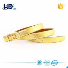 Hot Selling Shinny Golden Leather Women Belt