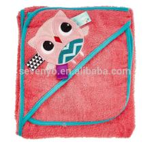 Сова с капюшоном полотенце с мочалкой,100% натуральный органический Бамбук,супер мягкая и вещество-поглотитель,лучший душ подарок для babys