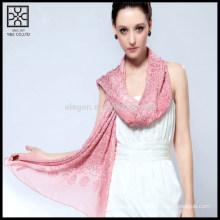 Мода вышивка 100% шелковый шарф с бисером