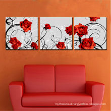 Discount Split 3pices Flower Rose Canvas Printing