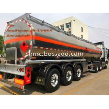 50000 Liters Air Suspension Aluminum Tolly Tanker Trailer
