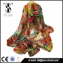New design of bright color beach scarf