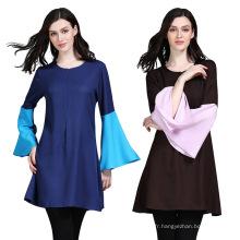 En stock Wholesale Moyen-Orient islamique femmes robe Dubaï turque Abaya
