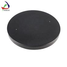 Black PS material circular plastic trays by vacuum forming