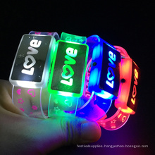 Valentine Day new Design Flashing Love Led Wristband