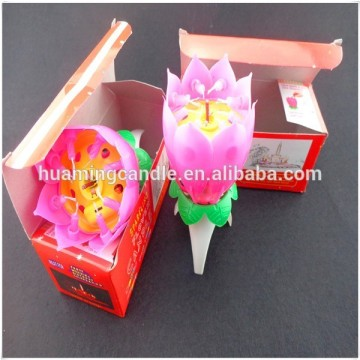 Lotus Bunga Happy Birthday Lilin Cake