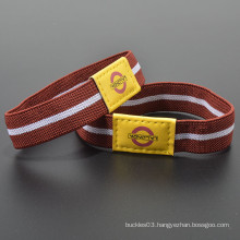 Polyester custom logo printed elastic fancy wrist band