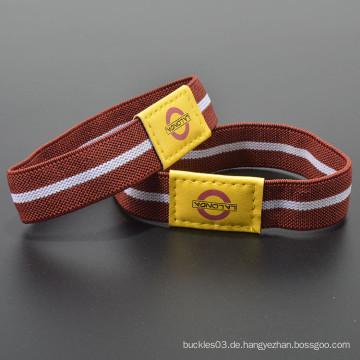 Polyester benutzerdefinierte Logo gedruckt elastischen fancy Handgelenk Band