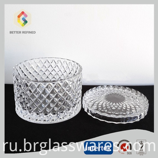 Clear Decorative Glass Soy Candle Container Jars