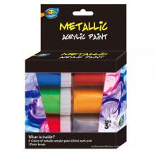 Оптовая дети A0100 Акриловая краска-металлик для ребенка ремесло краска