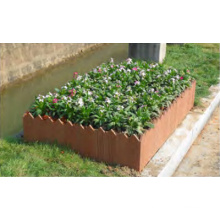 Eco Friendly Sythenic Wood Grain Pest-Free Flower Box Anti Splinter WPC Flower Bed