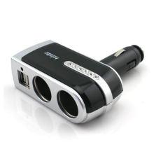 Dual USB 2 Socket Car Cigarette Lighter Charger Power Socket Adapter Splitter