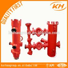 Cubierta del API / cabeza de cemento del tubo de perforación y enchufe doble / cabeza de cementación del solo-enchufe